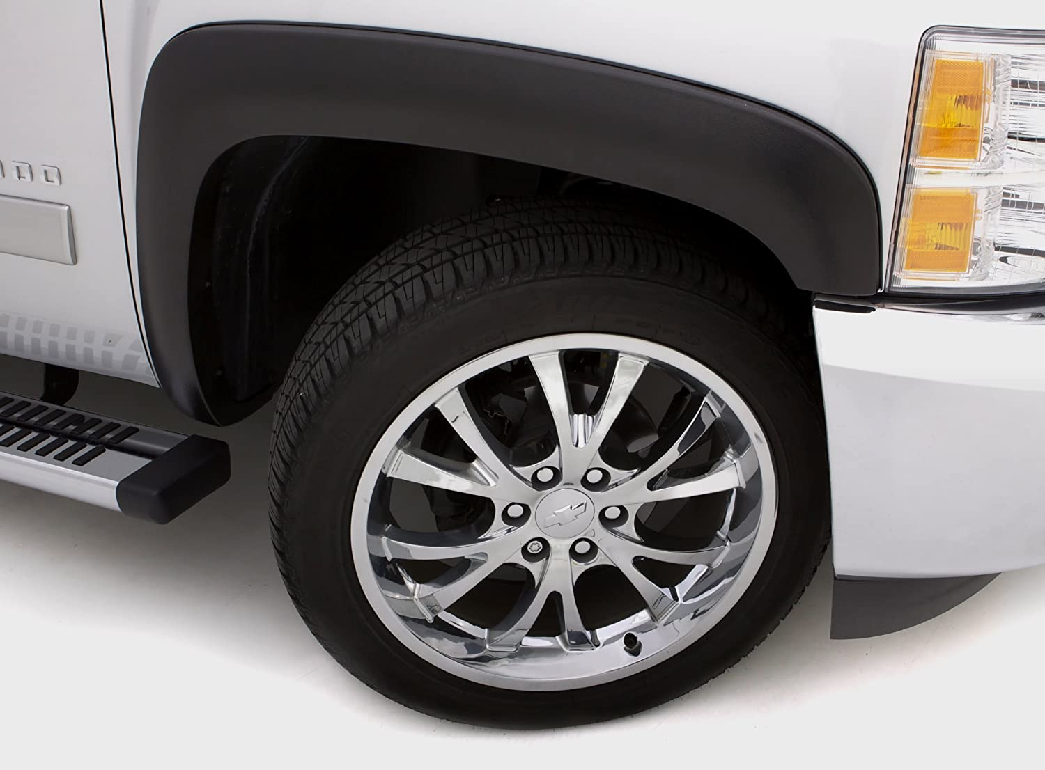 4 Piece Lund SX203S Elite Series Black Sport Style Standard Front and Rear Fender Flare