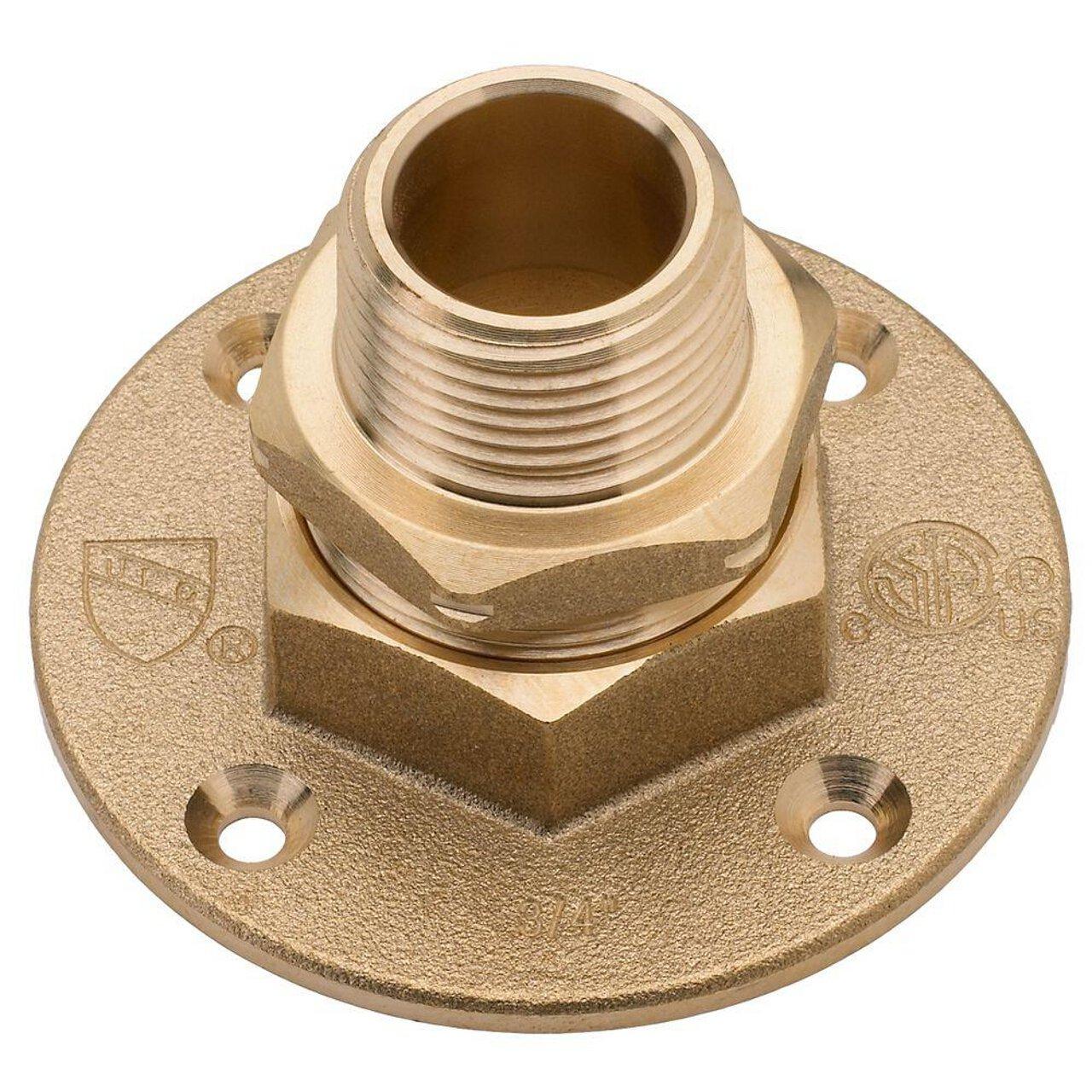 HomeFlex 11-464-008 3/4-Inch Brass Corrugated Stainless Steel Tubingx MIPT Termination Flange