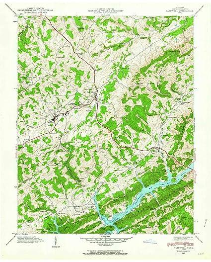 Amazon.com : YellowMaps Tazewell TN topo map, 1:24000 Scale ...
