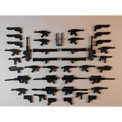 42 Guns for Lego Mini Figures. New Knifes Trooper Halo Star Wars City Bargain Guns: Toys & Games
