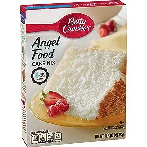 Betty Crocker Super Moist Fat Free Cake Mix, Angel Food, 16 oz