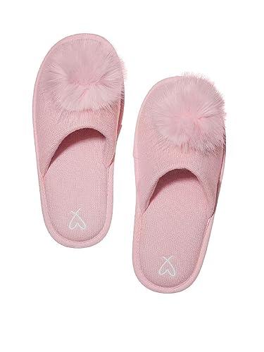 fe484e2972862 Amazon.com | Victoria's Secret Pom Pom Pretty Slippers Pink- Large 9 ...