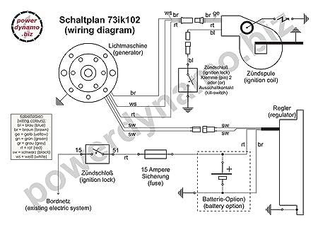 Amazon.com: Powerdynamo (MZ-B) Ignition Stator Bultaco 51oz Flywheel ...