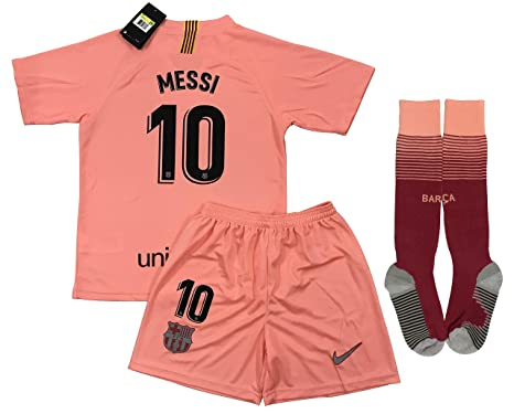 the best attitude e01fa e04cd TrendsNow 2019 Messi #10 Barcelona 3rd Jersey Shorts and Socks for Kids and  Youths