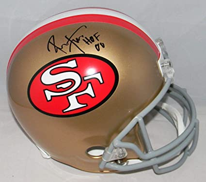 fb3ac4023 Image Unavailable. Image not available for. Color  Ronnie Lott Signed Helmet  - Full Size ...
