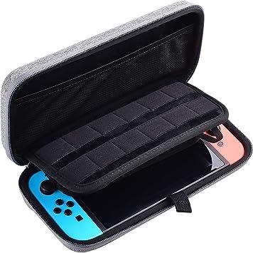 Diyife Funda para Nintendo Switch, Concha dura Estuche de Transporte Para Consola Nintendo Switch, Joy-Con 12 Cartuchos de Juego y Protector de Pantalla HD (Gris): Amazon.es: Bricolaje y herramientas