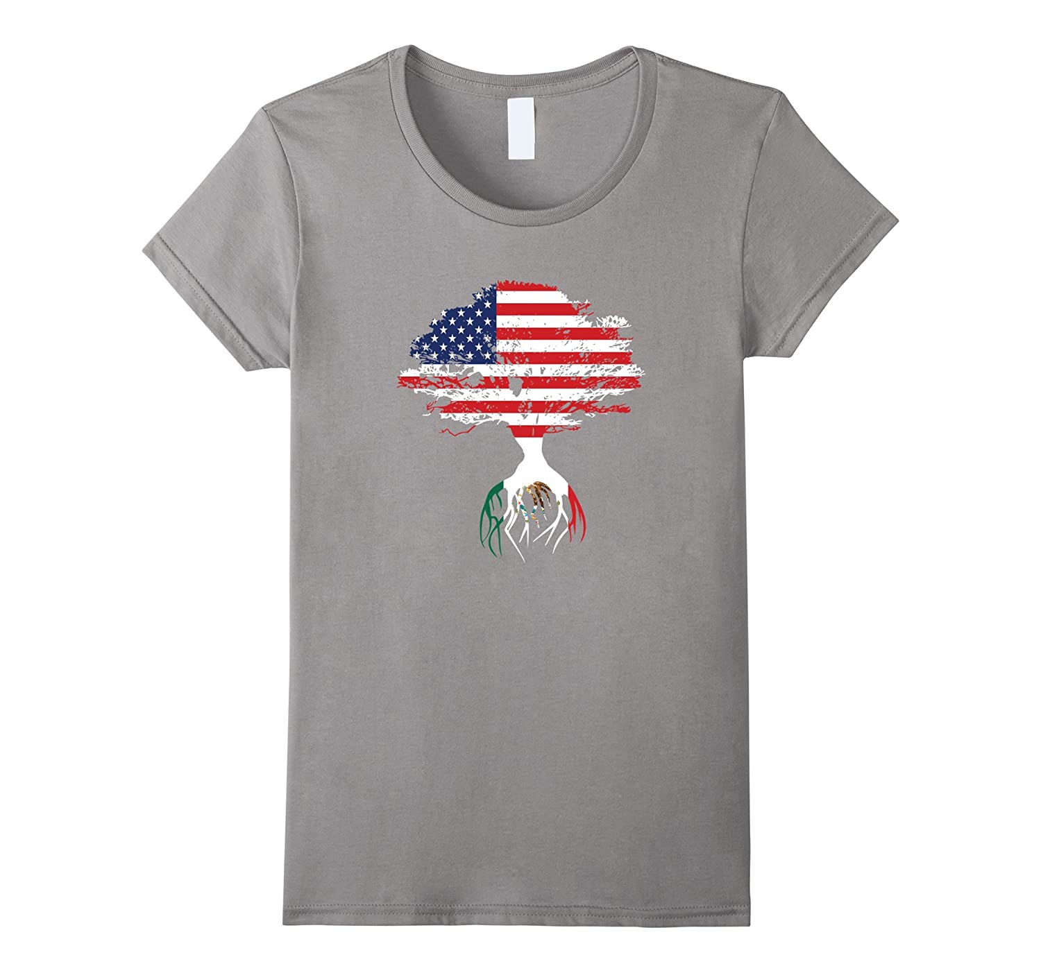 American Flag Tree Mexican Roots T-Shirt