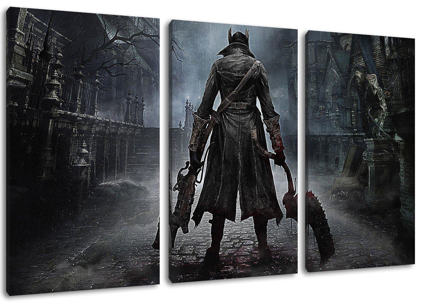 Amazon.de: bloodborne ps4 game 3-Teilig(120x80cm) auf Leinwand, XXL ...