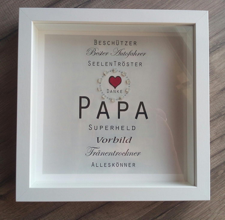 Individuelles Geschenk Papa,Vatertag, Bild im weißen Rahmen ...