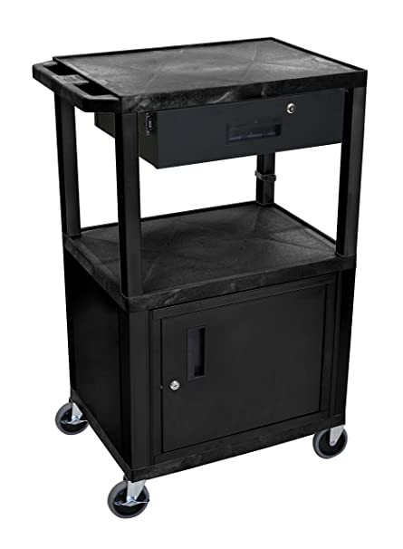 Wilson Tuffy Utility Cart With Locking Cabinet   300 Lb. Capacity, 42in.