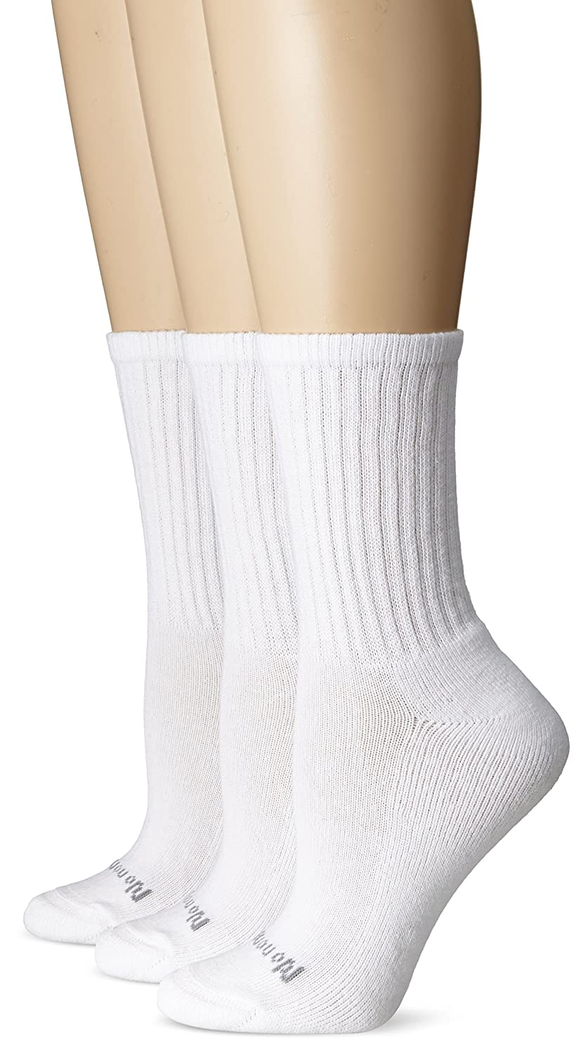 No Nonsense Womens Ahh Said The Foot Cushioned Crew 3-Pack White One Size No Nonsense Women/'s Hosiery NS5032