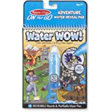 Melissa & Doug On The Go Water Wow! Adventure Activity Pad (Reusable Water-Reveal Coloring Book, Refillable Water Pen)