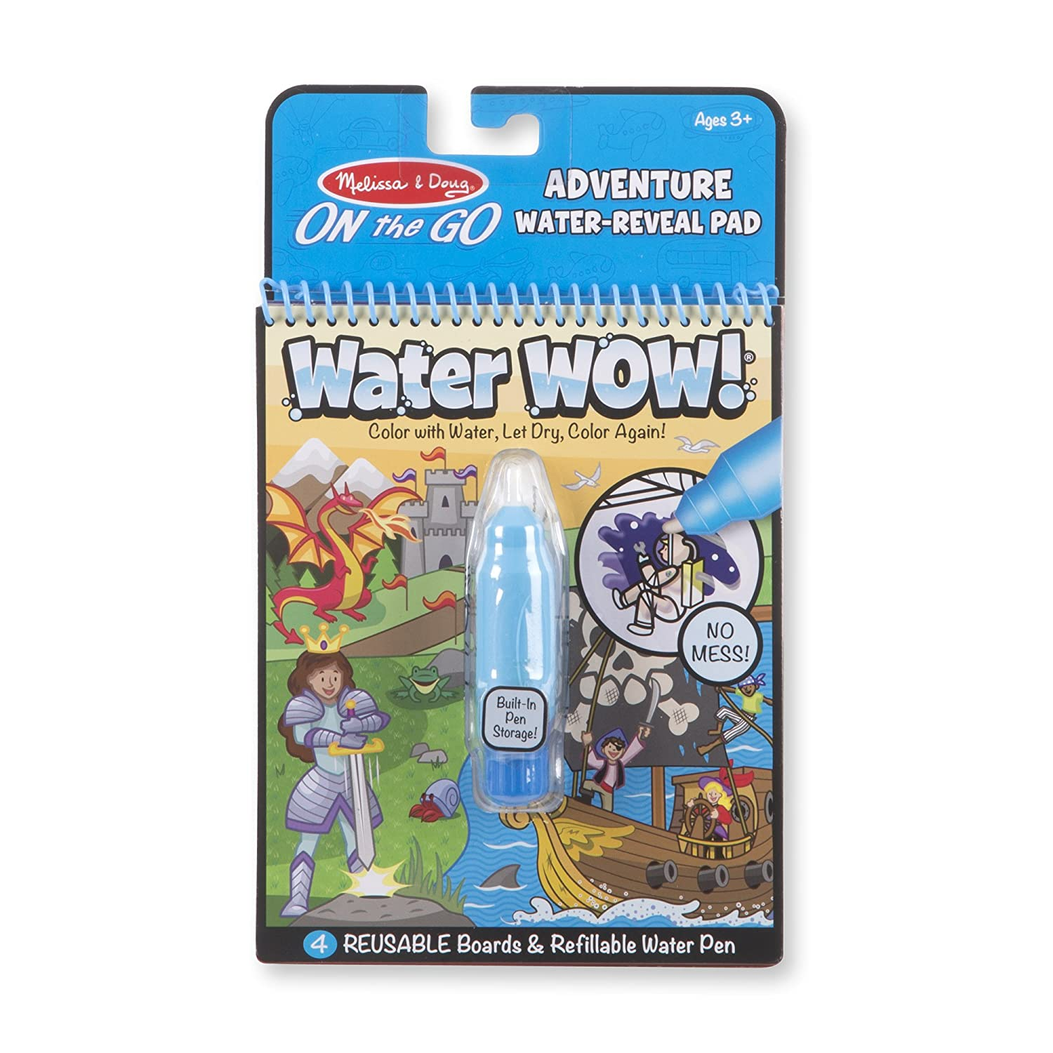Melissa & Doug On The Go Water Wow! Adventure Activity Pad (Reusable  Water-Reveal Coloring Book, Refillable Water Pen, Great Gift for Girls and  Boys - ...