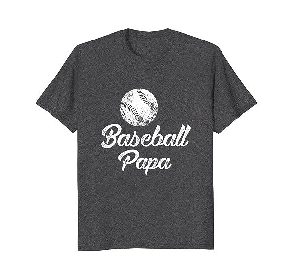Baseball Papa Shirt, Cute Funny Player Fan Gift