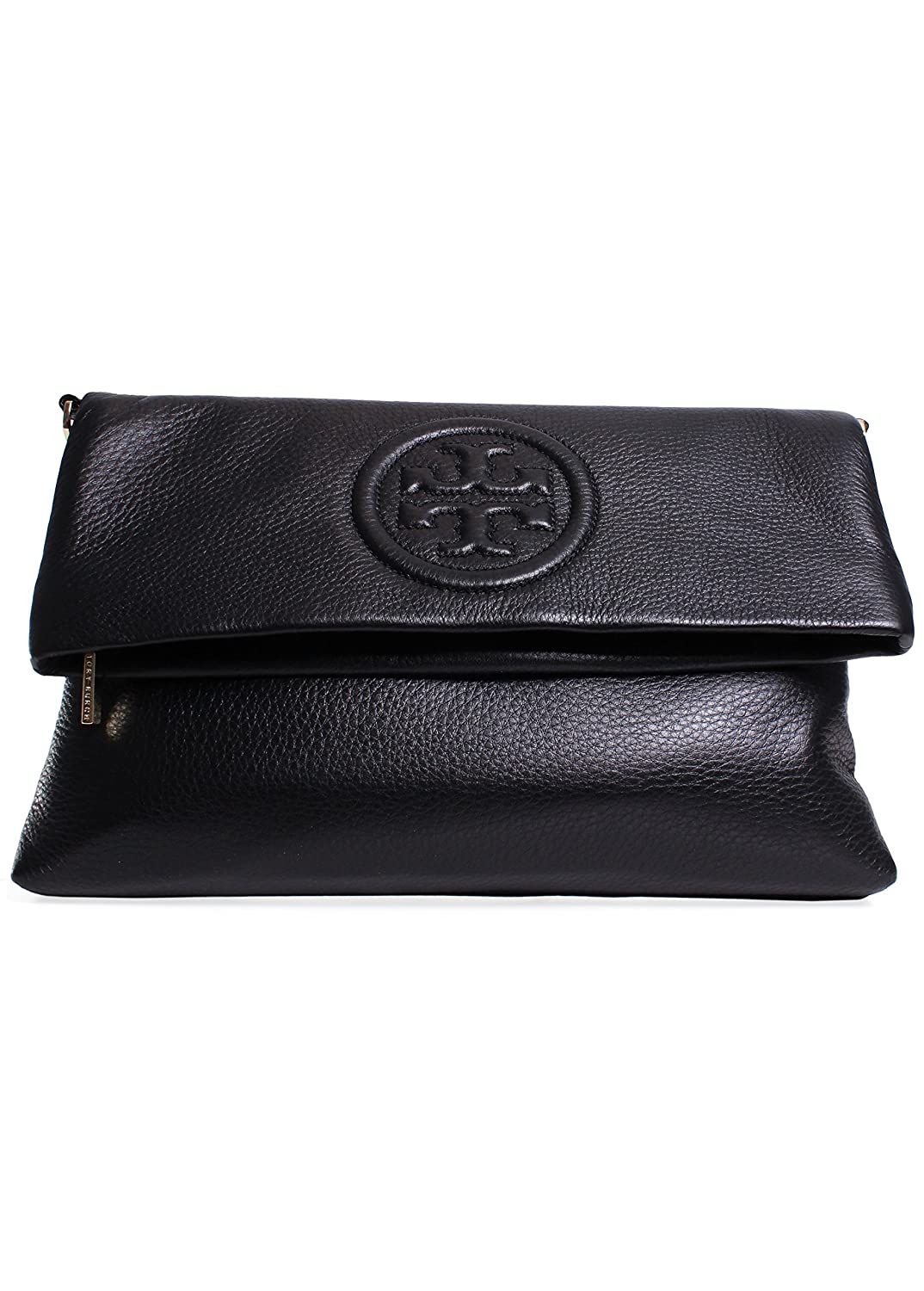 Tory Burch Bombe Foldover Clutch in Black