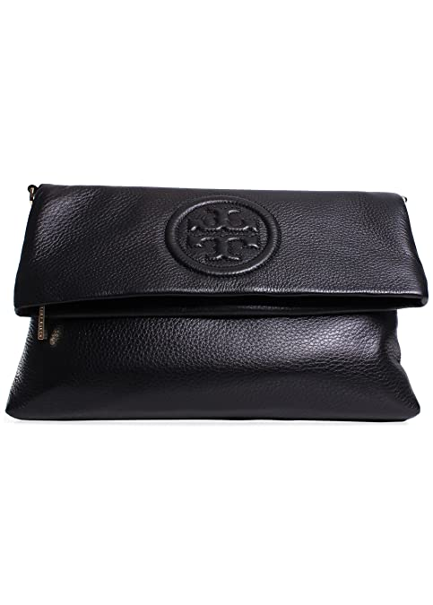 727142611f56 Tory Burch Bombe Foldover Clutch in Black  Amazon.ca  Shoes   Handbags