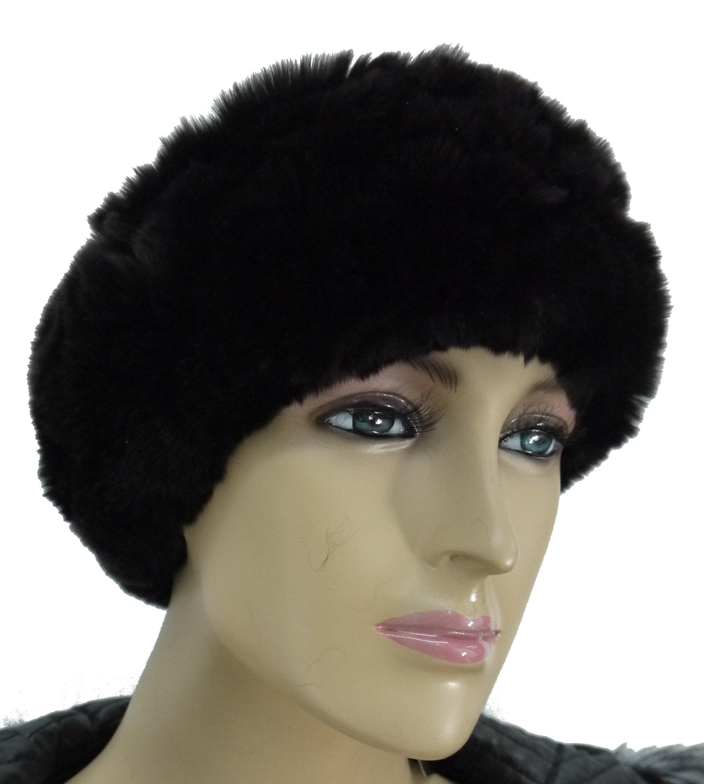 100% Rex Rabbit Fur Headband - Brown