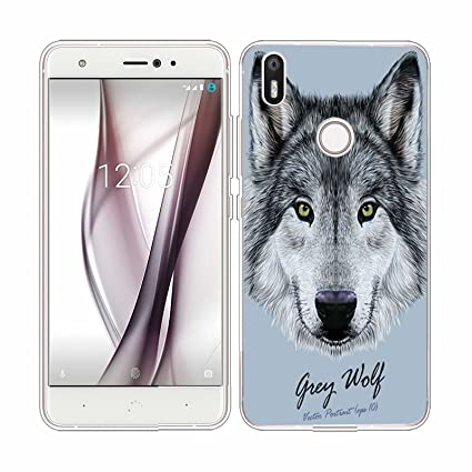 Funda BQ Aquaris X / X Pro perro lobo Mariposas Suave TPU ...