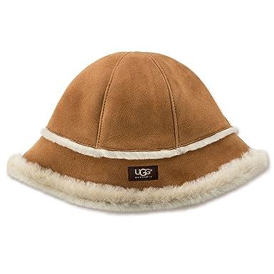 ba9f9d11678 UGG Women s Sheepskin City Bucket Hat Chestnut Hat One Size at ...