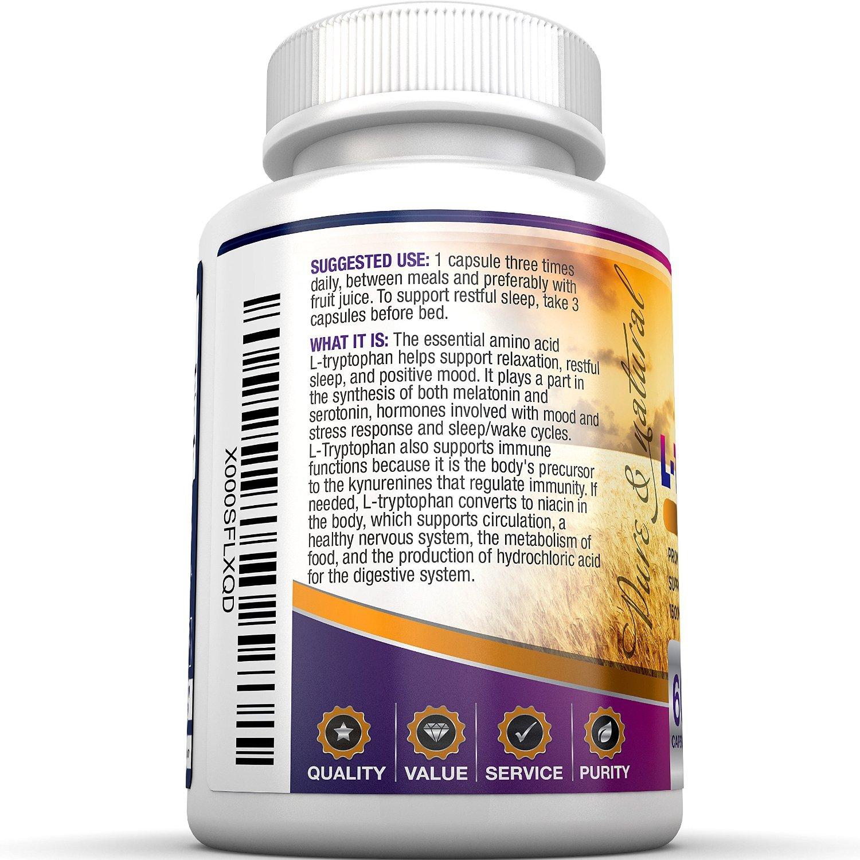 BRI Nutrition l de triptófano - 1500 mg umhüllungen - 60 Graf Von L - triptófano - 500 mg Pro Veggie - Cápsulas BRI Nutrition l de triptófano - 1500 mg ...