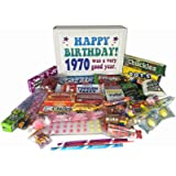 1970 Retro Nostalgic Candy 47th Birthday Gift Box for a Man or Woman Jr