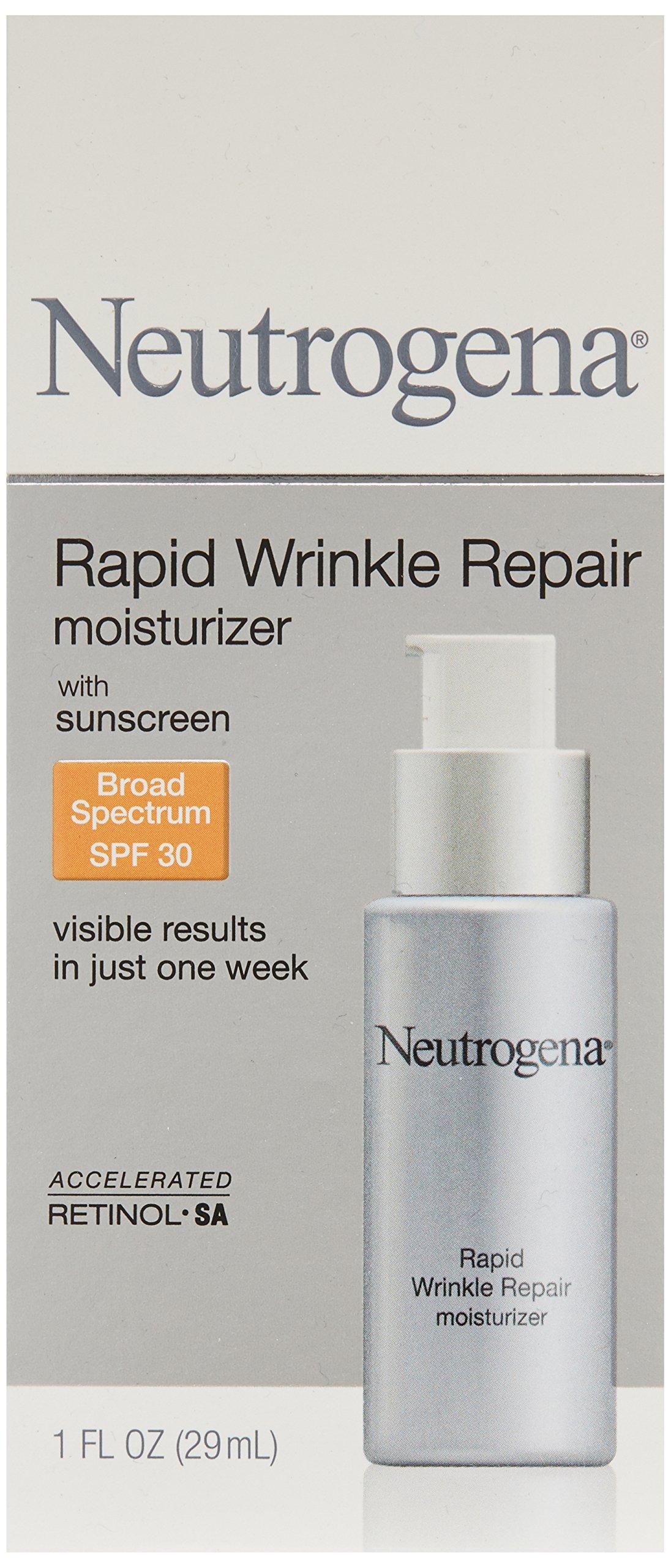 Neutrogena Rapid Wrinkle Repair Anti-Wrinkle Retinol Daily Face Moisturizer, with SPF 30 Sunscreen, 1 fl. Oz by Neutrogena (Image #3)