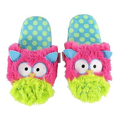 cf5382c318ba LazyOne Womens Owl Critter Slippers Adult Large  Amazon.co.uk  Clothing
