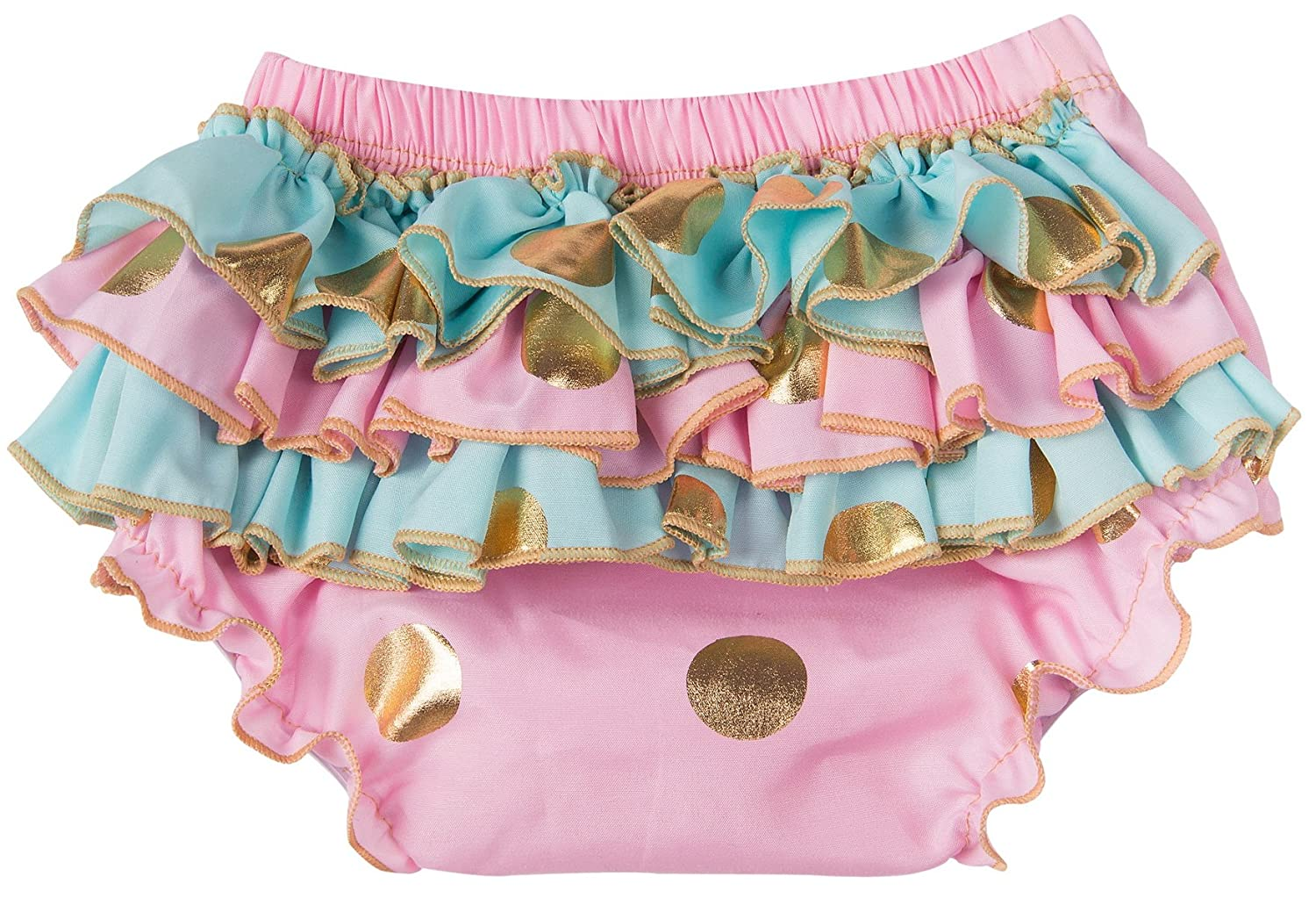 Messy Code Baby Bloomers Infant Ruffle Shorts Girl Underwear Diaper Cover Gold Dot Briefs for Toddler KP-BGPB01