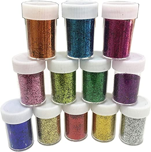 Slime Supplies Glitter Powder Sequins for Slime,Arts Crafts Extra Solvent  Resistant Glitter Powder Shakers,Bulk Acrylic Polyester Craft Supplies  Glitter Loose Eyeshadow,Assorted Colors,12 Pack Glitter: Amazon.ca: Beauty
