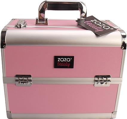 e8bdba859 ZAZA® - Caja para cosméticos profesional de tamaño grande  plateado de