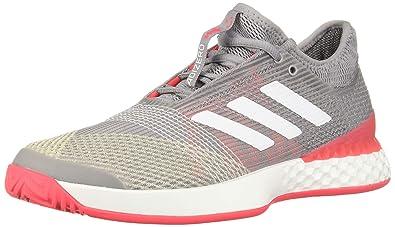 533b3c3f31e adidas Men's Adizero Ubersonic 3, light granite/white/shock red, 6.5 M