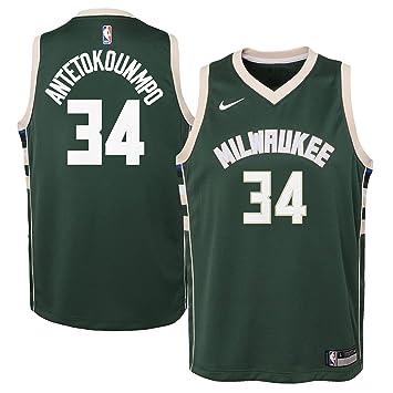 Excelente calidad talla 40 Amazonas Nike Giannis Antetokounmpo Milwaukee Bucks Icon Edition - Camiseta ...