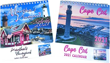 Amazon.: 2021 Martha's Vineyard and Cape Cod Desk Calendar