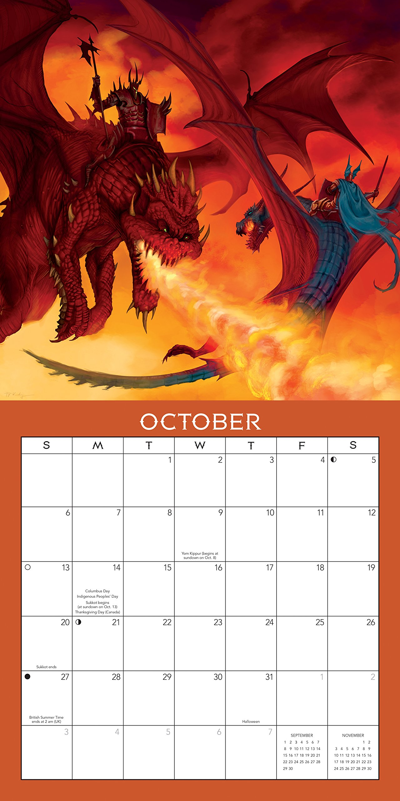 Llewellyn's 2019 Dragon Calendar by Llewellyn Publications (Image #1)