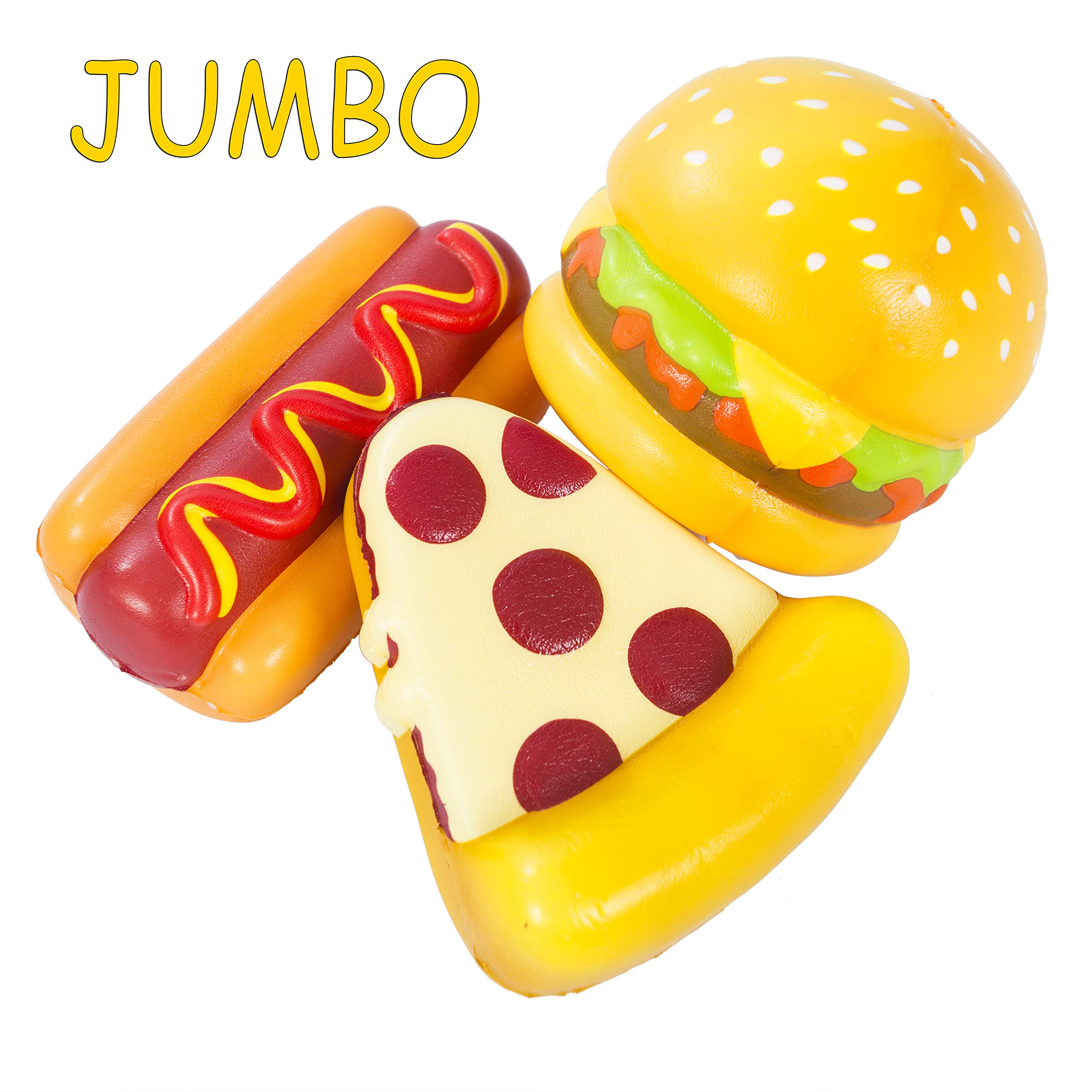 AILIMY Hamburger Giant Hot Dog Bread Cheese Pizza Squishy Jumbo Cream Scented Food Soft Squishies Slow Rising Squeeze Toys