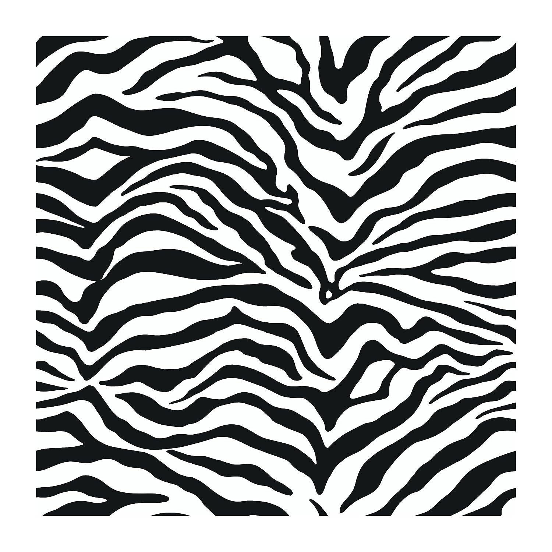 Zebra Patterned Wallpaper - York wallcoverings just kids kd1798 zebra skin wallpaper black zebra print wallpaper amazon com