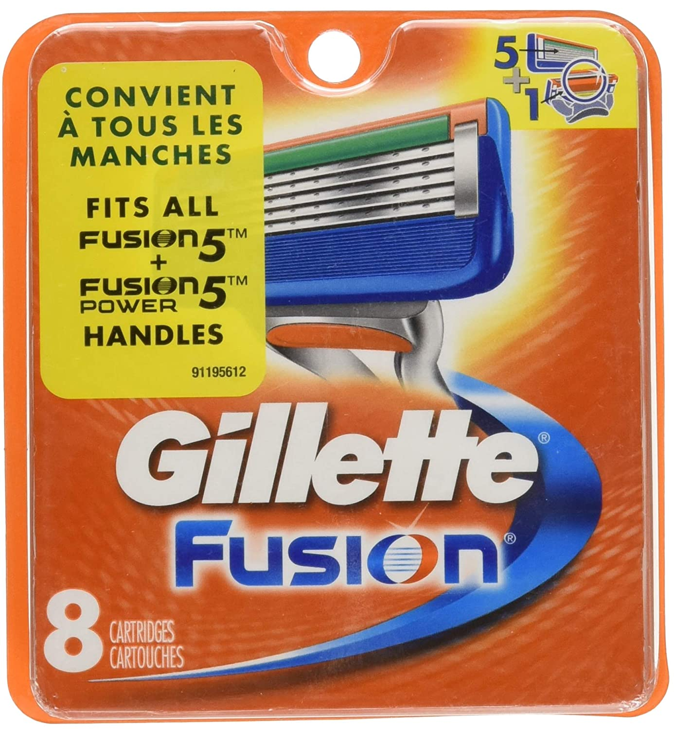 Gillette Fusion Mens Razor Blades 8 Pack Cartridges Refills