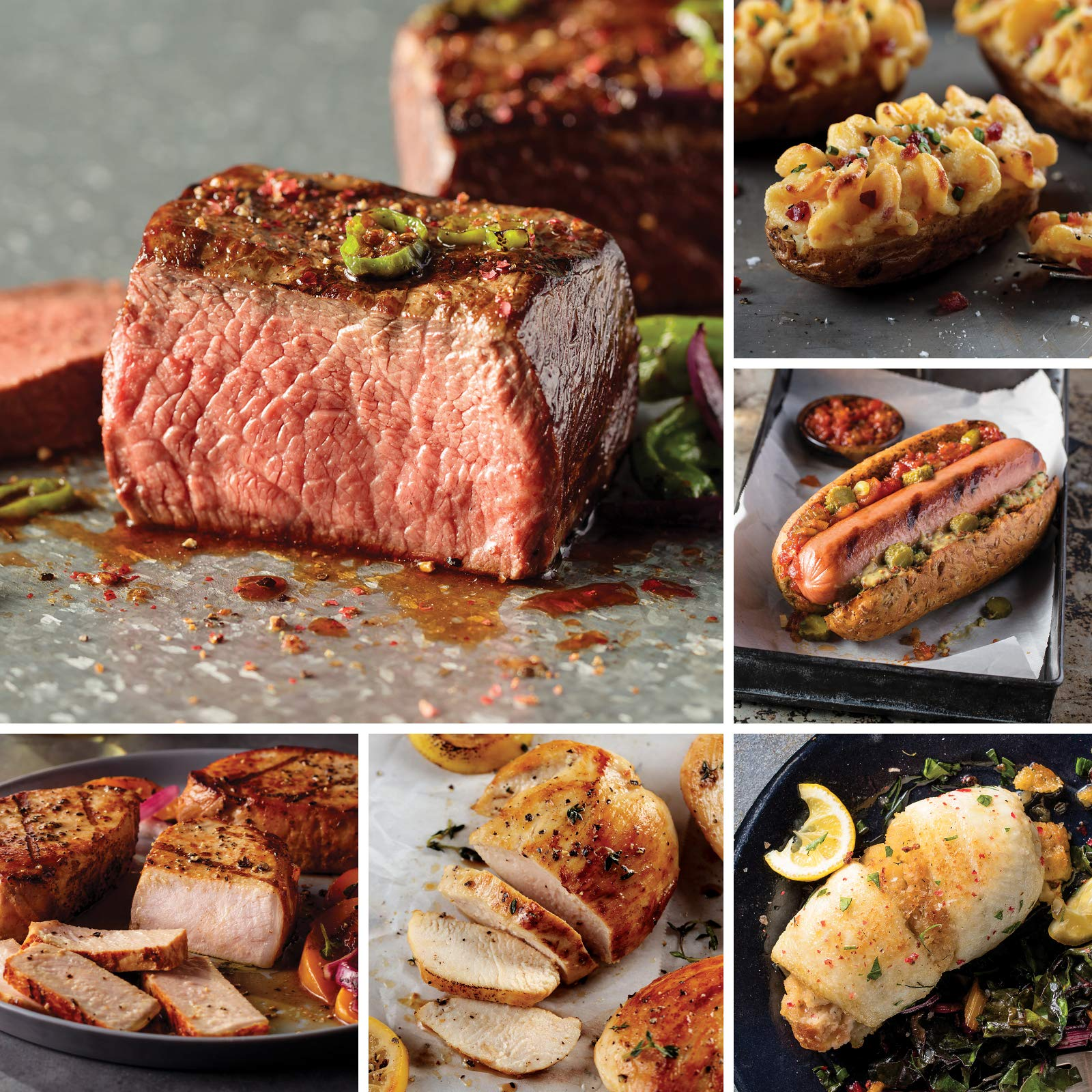 Omaha Steaks Grilling Collection (26-Piece with Top Sirloins, Boneless Pork Chops, Sole Filets Stuffed With Scallops and Crab Meat, Boneless Chicken Breasts, Jumbo Franks, and Stuffed Baked Potatoes) by Omaha Steaks
