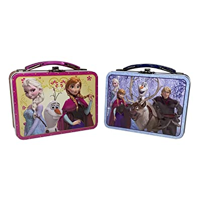 Set Of 2 Frozen Miniature Lunch Box For Kids And Travel: Kitchen & Dining