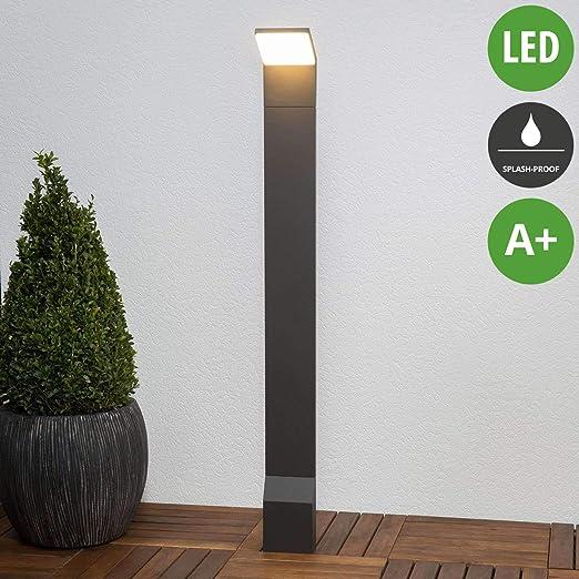 LED Lámpara para exterior Nevio (Moderno) en Negro hecho de Aluminio (1 llama, A+) de Lucande | iluminación de senderos, baliza, iluminación de senderos, farola: Amazon.es: Iluminación