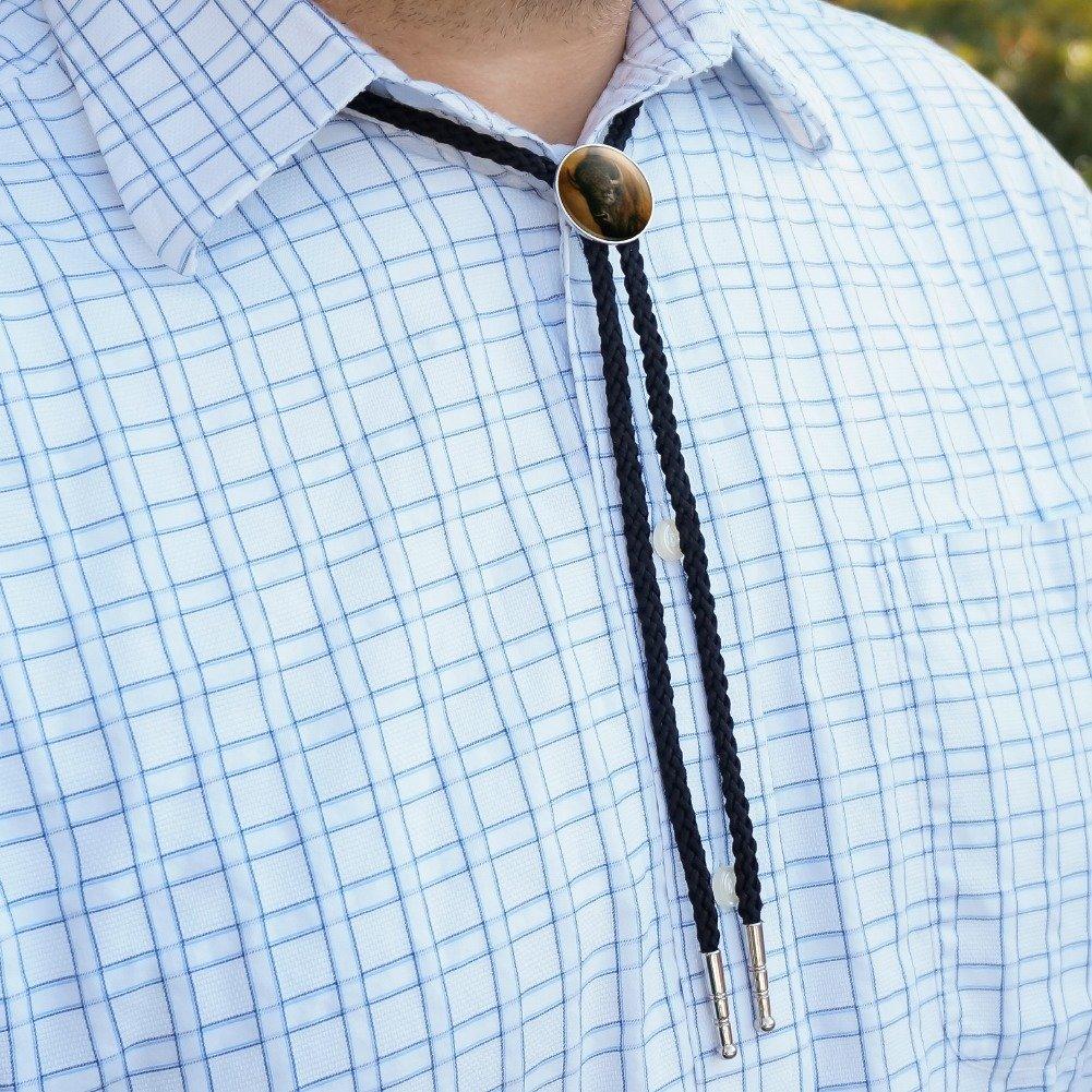 Built Not Bought Western Southwest Cowboy Necktie Bow Bolo Tie