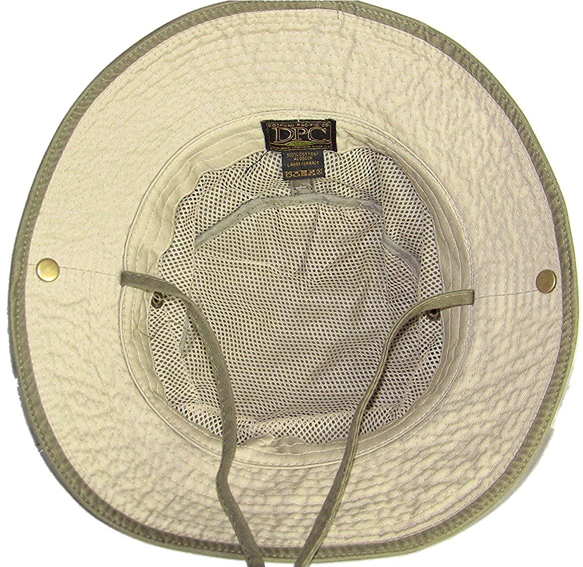 6e283a2983f Dorfman Pacific Outdoor Olive   Khaki Bucket Hat Large at Amazon Men s  Clothing store