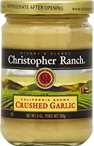 Christopher Ranch CRUSHED GARLIC – Famous Award Winning Heirloom Garlic - 9 Oz