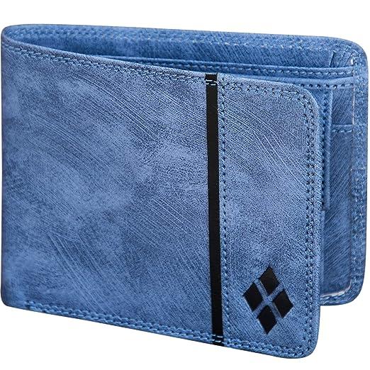 LUXIQE Men Blue Artificial Leather Wallet  WL1003BL
