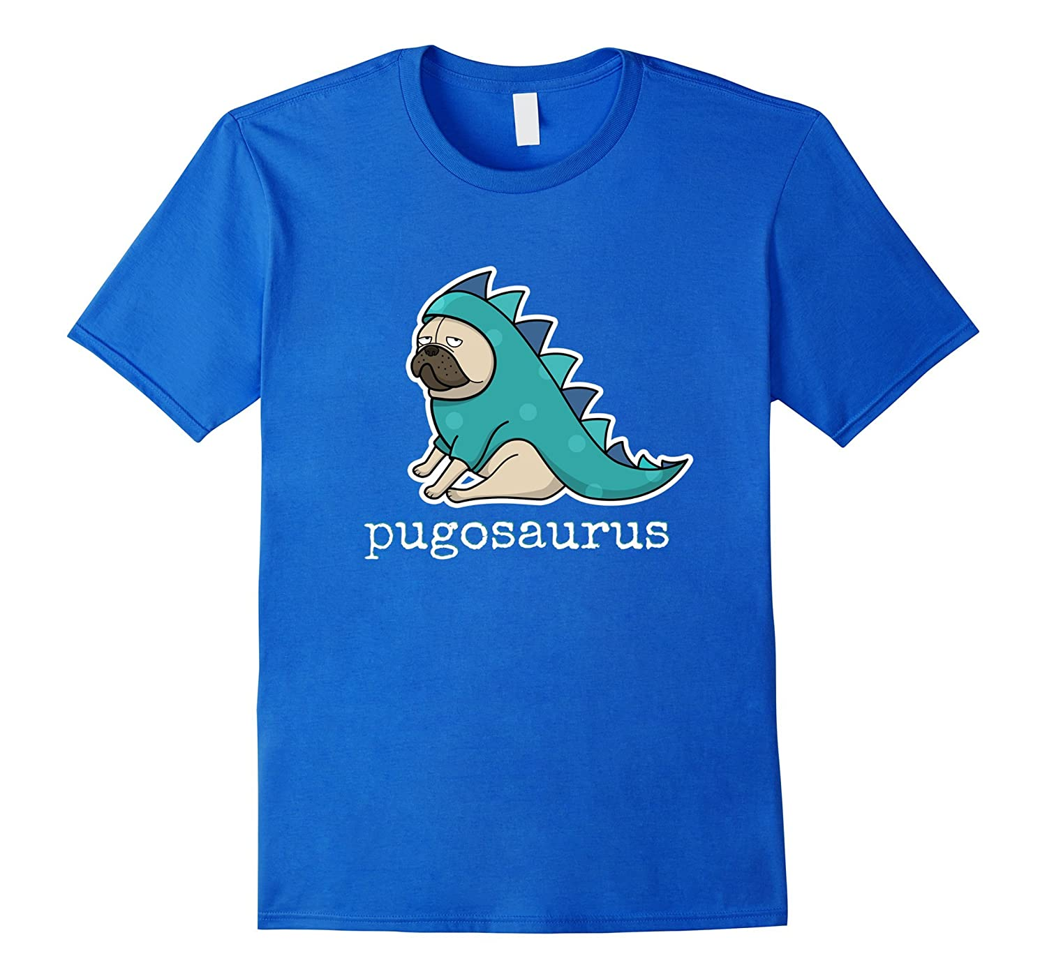 Pugosaurus t-Shirt Cute Pug in Dinosaur Costume  Pugosaur-TH