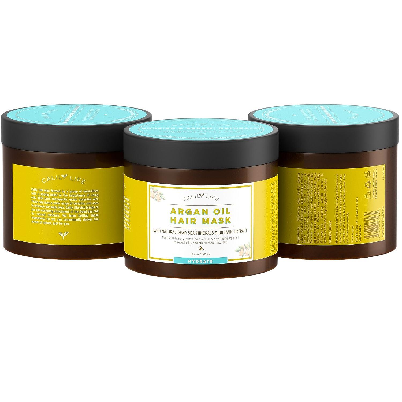Amazon Com Calily Life Organic Moroccan Argan Oil Hair Mask With