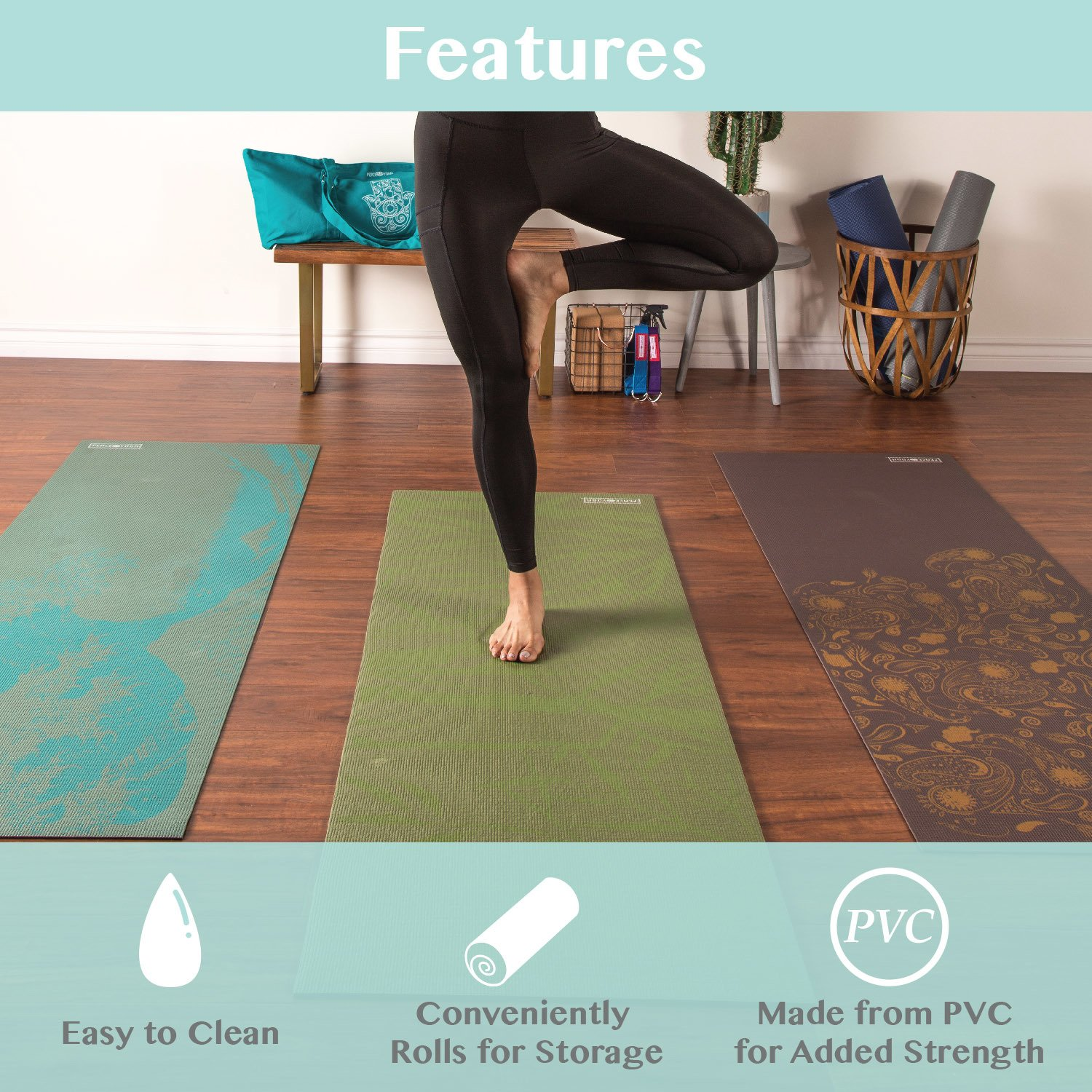 Amazon Peace Yoga Extra Thick 3mm Or 6mm Pilates Exercise Mat With Printed Design Sports Outdoors