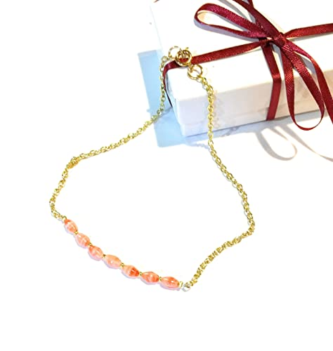 il fullxfull zoom delicate beaded anklet filled gold inch listing