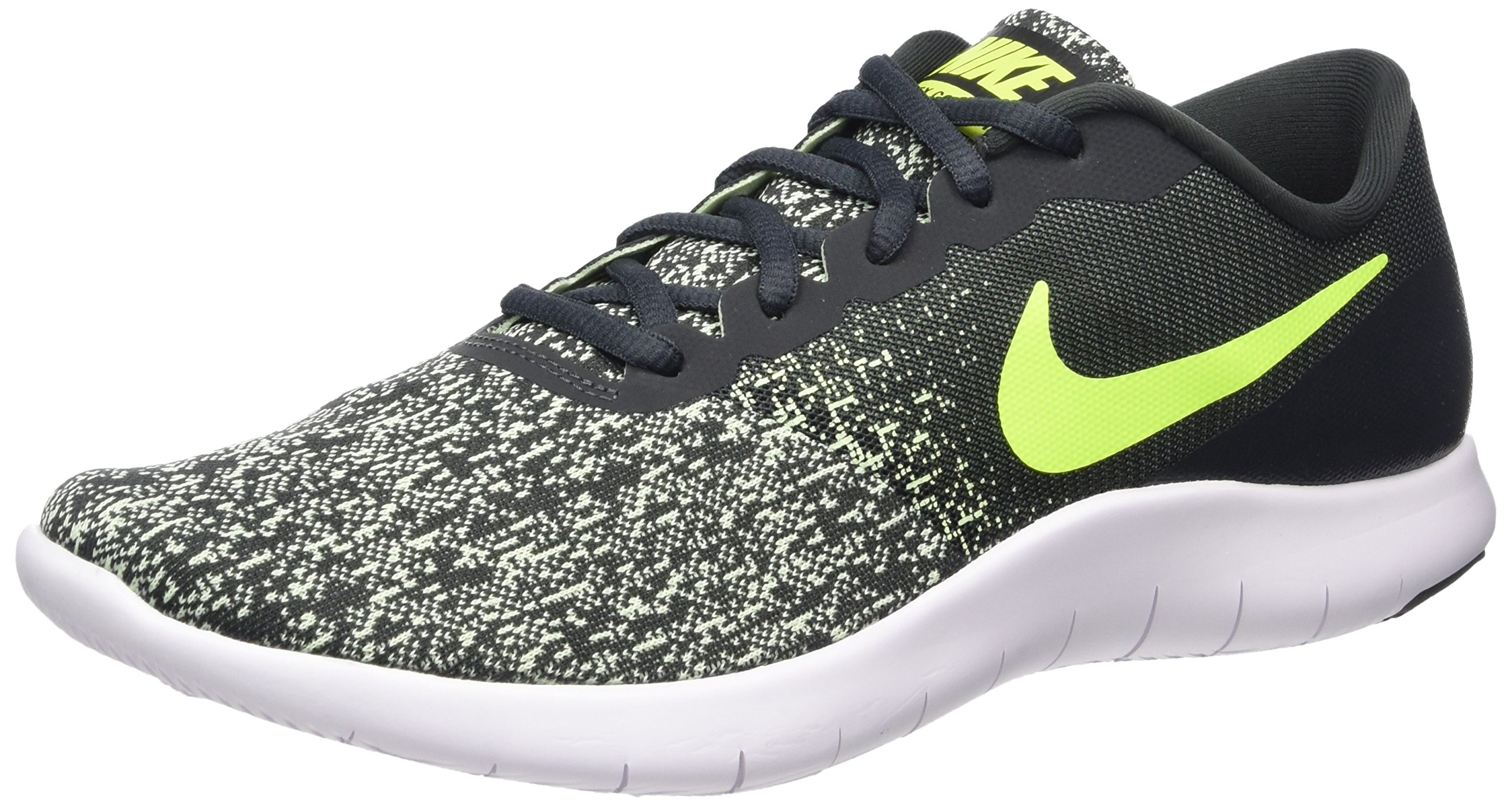 NIKE Men's Flex Contact Running Shoe Anthracite/Volt-Barely Volt-White 9.5 by NIKE