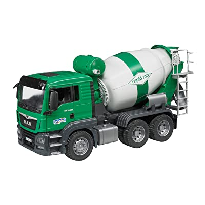 Bruder 03710 Man Tgs Cement Mixer Truck Vehicle: Toys & Games